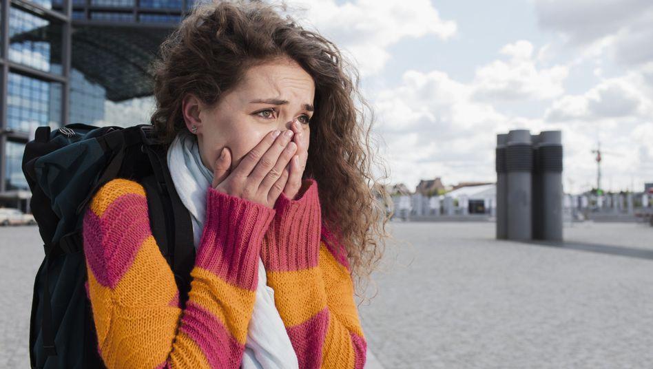 Furcht im Gesicht: Angst hat eine Schutzfunktion und gehört zum Leben dazu - manchmal wird sie jedoch krankhaft