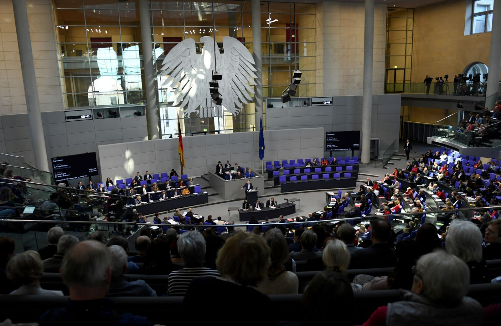 Lower house of parliament Bundestag plenum session in Berlin