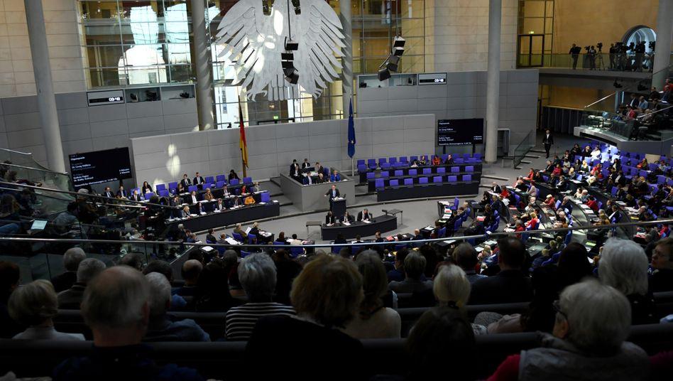 So groß wie nie zuvor: Der deutsche Bundestag