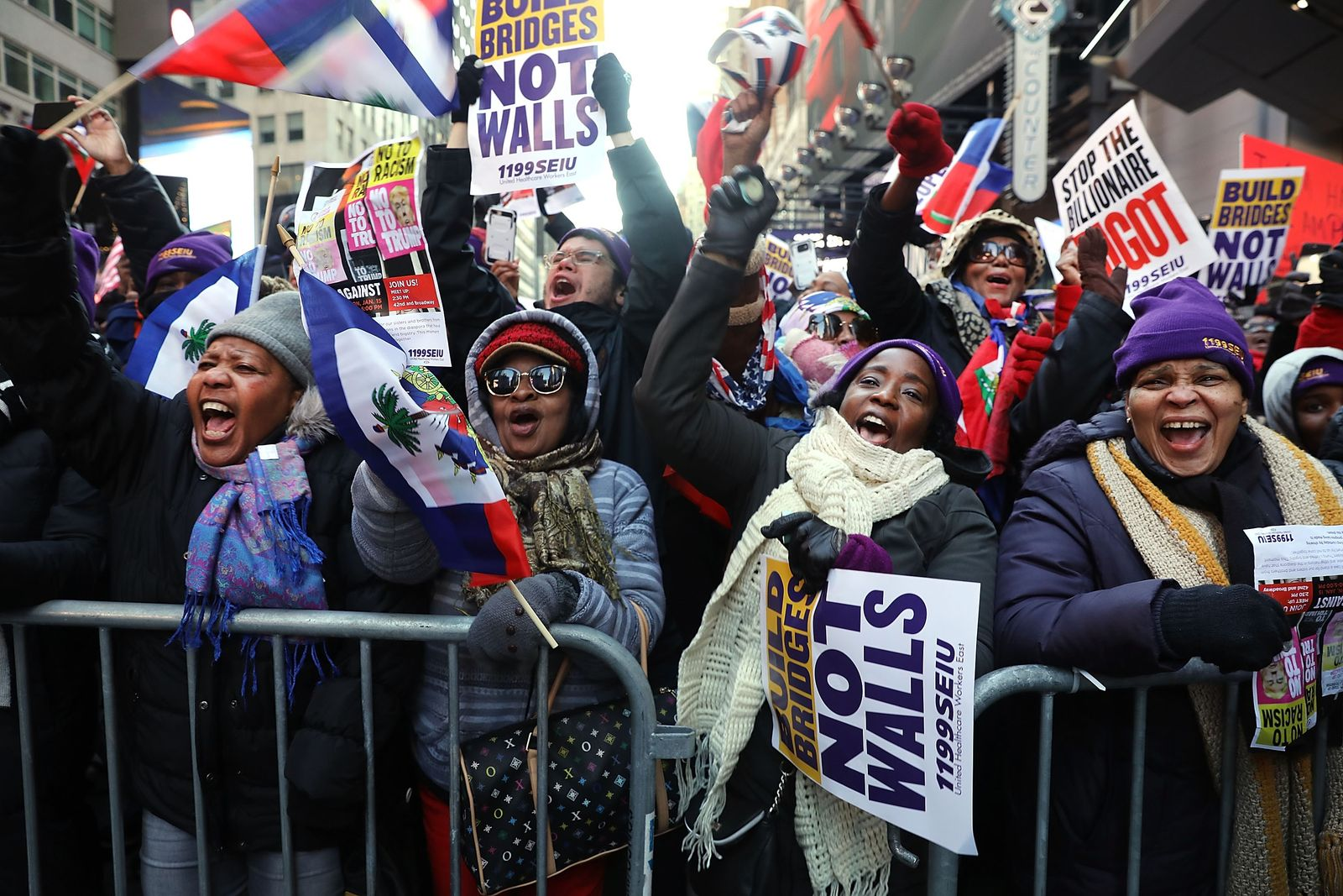 Activists Hold Martin Luther King Day March in New York