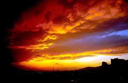 Mit prächtigen Sonnenuntergängen wurden Felix Göpel und Kevin Meisel für ihre Strapazen entlohnt.