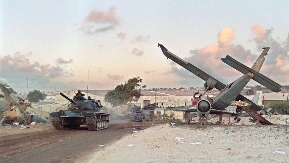 Somalias Hauptstadt Mogadischu (März 1995): Künftig mehr Kriege durch den Klimawandel?
