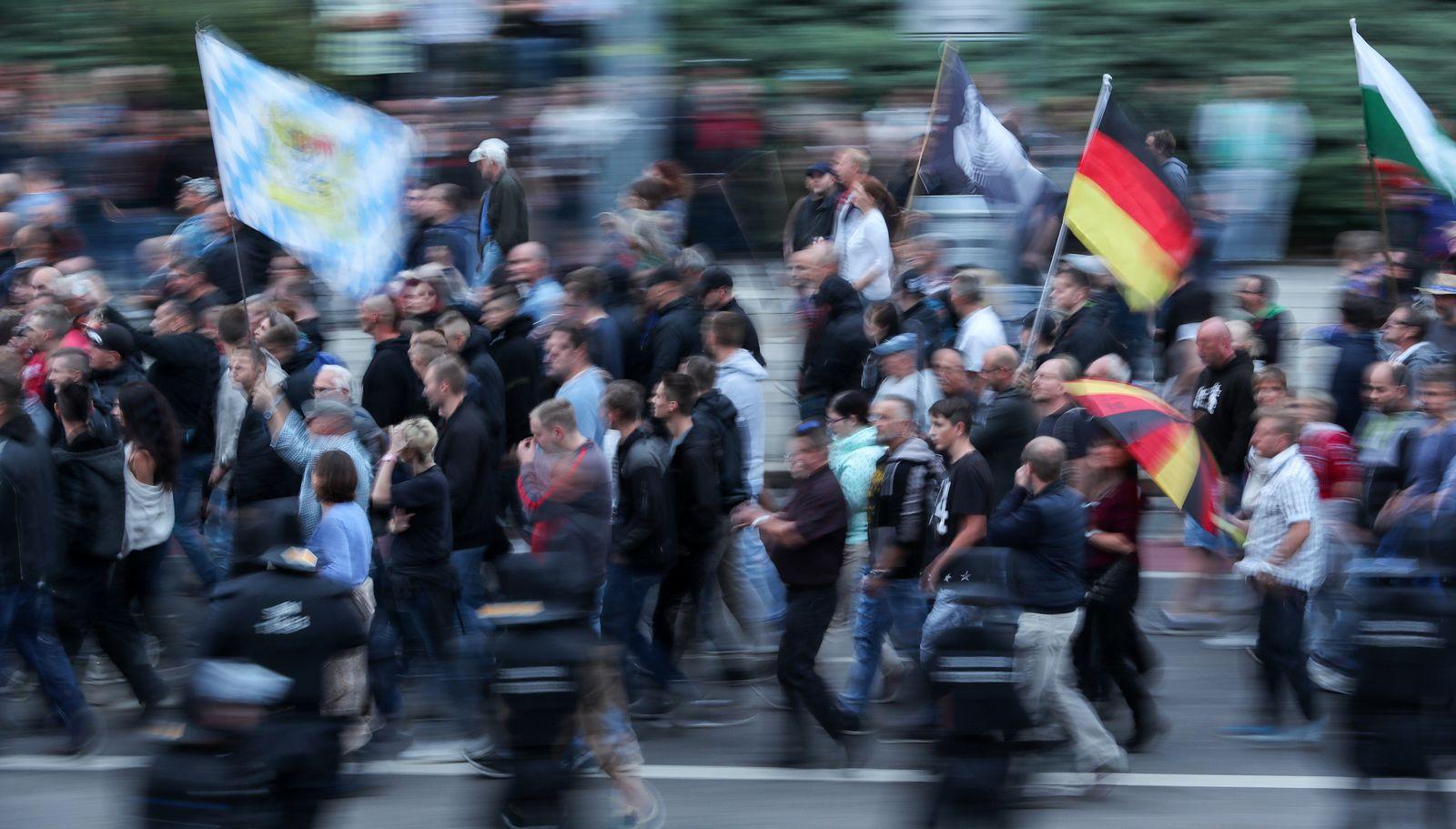 Chemnitz/ Rechte Demonstranten