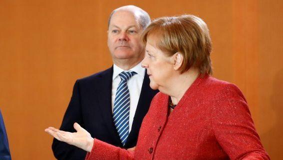 Maas, Scholz, Merkel