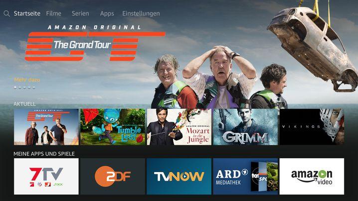 Neue Benutzeroberfläche des TV-Sticks