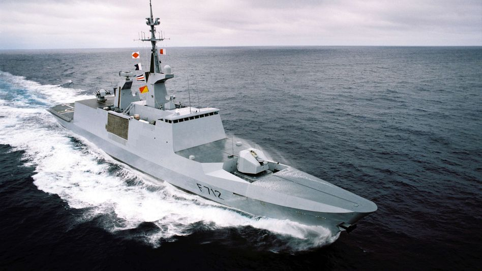 """Französische Fregatte """"Courbet"""": Zwischenfall im Mittelmeer"""