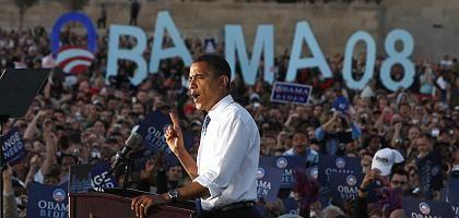 """Kandidat Obama: """"Ein großartiger Anblick. Da kann ich nur sagen: Wow!"""""""