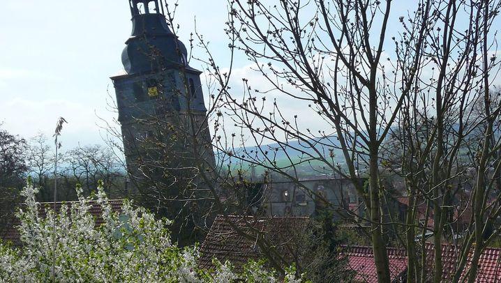 Schiefer als Pisa: Der Turm von Bad Frankenhausen