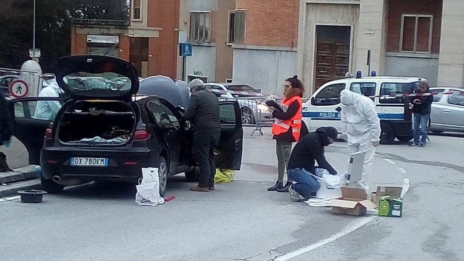 Fahrzeug des Täters in Macerata