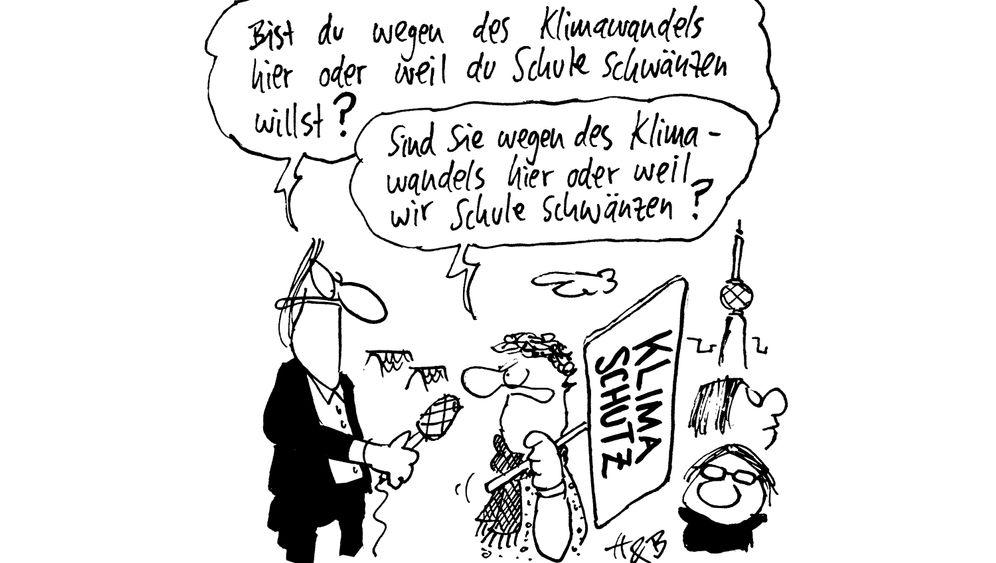 """Karikaturen von Hauck & Bauer: """"Alexa, demonstriere gegen Nazis!"""""""