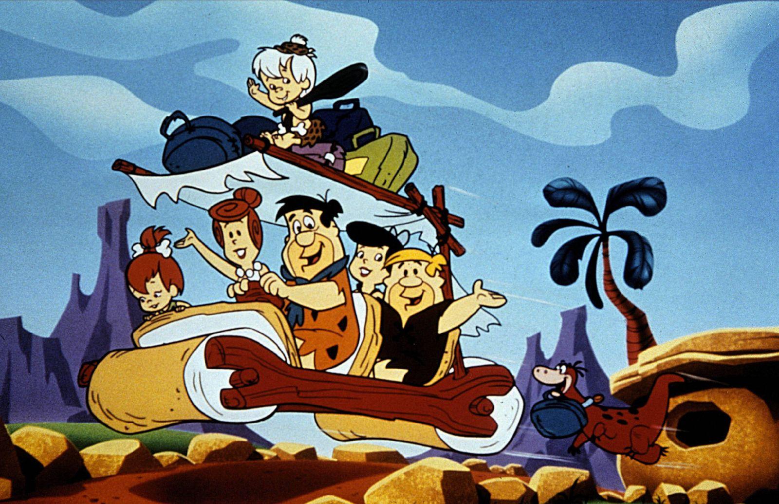 Wilma, Fred Flintstone ,Betty, Barney Rubble & Dino Characters: ,Fred Flintstone,,Barney Rubble & Dino Television: The