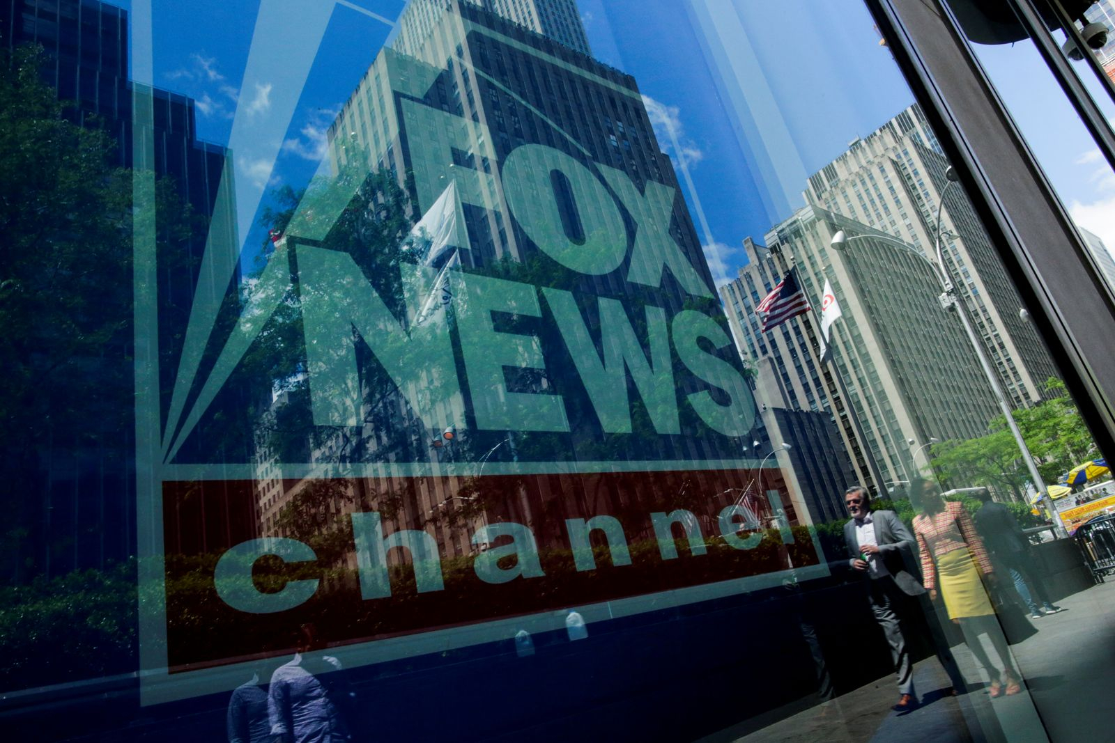 FILE PHOTO: A Fox News channel sign is seen at the News Corporation building in the Manhattan borough of New York City, New York