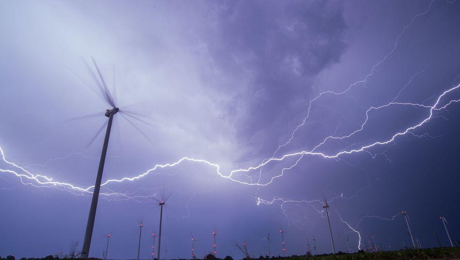 Gewitter in Brandenburg: 30 bis 40 Megaelektronenvolt