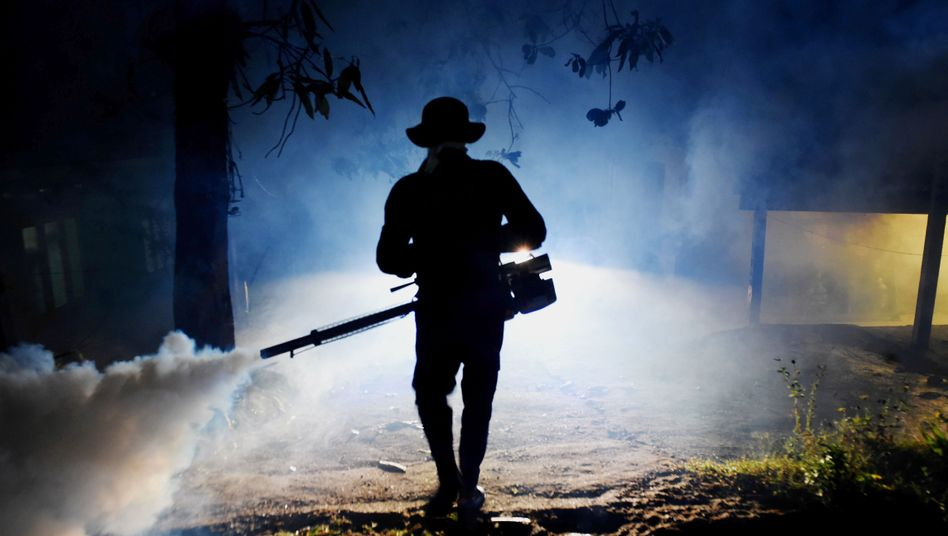 Mückenbekämpfung in Asien
