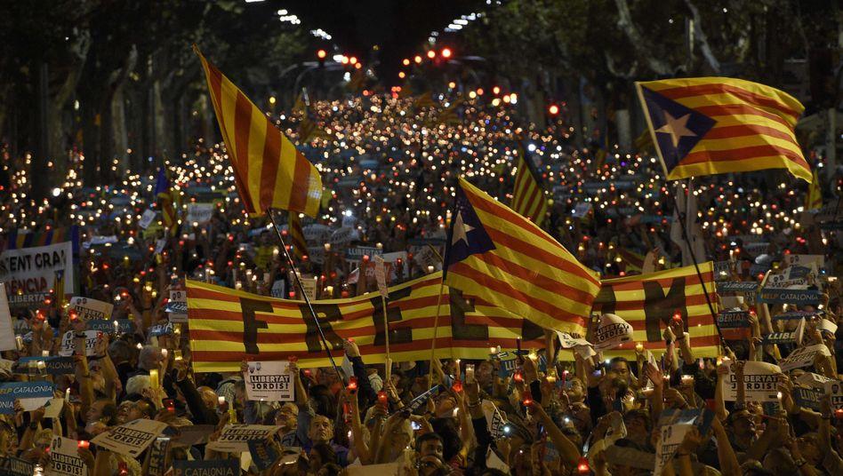 Massenproteste in Barcelona
