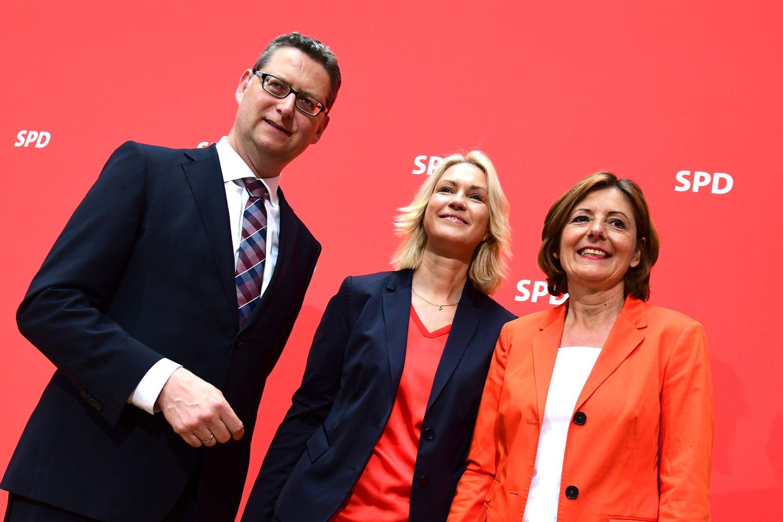 Thorsten Schäfer-Gümbel/ Manuela Schwesig/ Malu Dreyer/ SPD