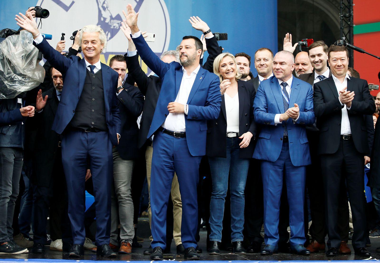 EU/ Salvini/ Le Pen/ Wilders