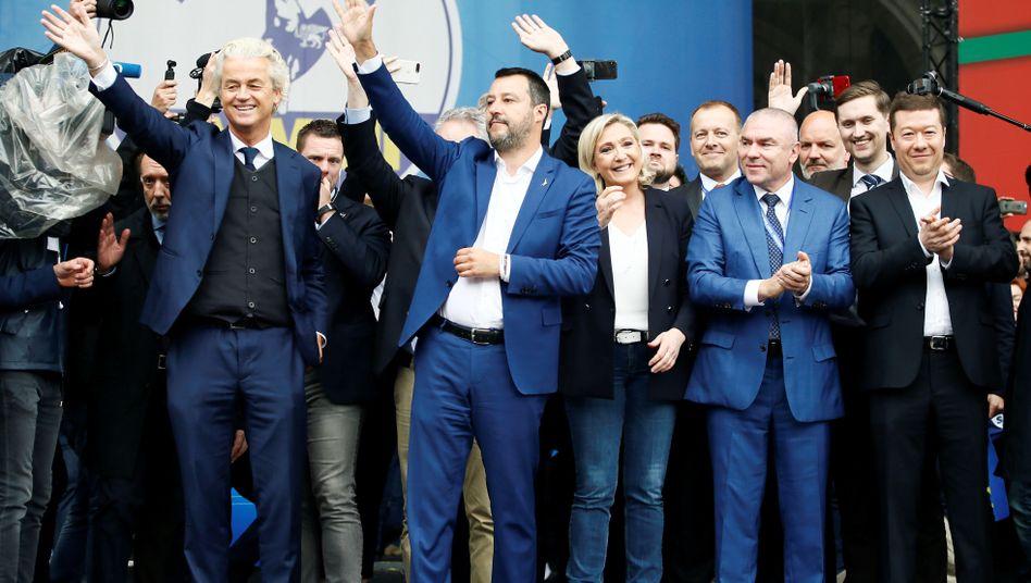 Geert Wilders, Matteo Salvini, Marine Le Pen, Veselin Mareshki, Tomio Okamura