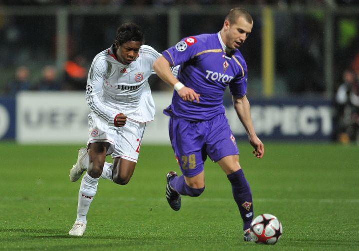 Lange ist es her: Der junge David Alaba bei einem Champions-League-Duell gegen Florenz im Jahr 2010