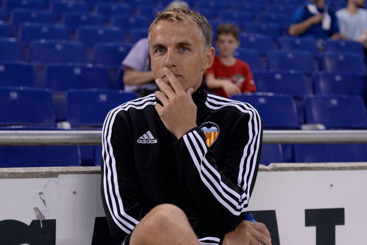 Phil Neville als Co-Trainer in Valencia (Archiv)
