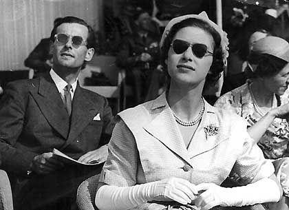 Prinzessin Margaret mit ihrem heimlichen Geliebten, dem Fliegeroffizier Peter Townsend