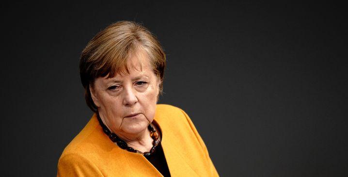 Merkel bei der Regierungsbefragung im März
