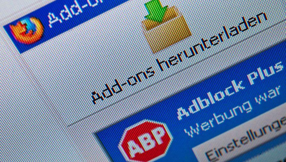 Browser-Add-on Adblock Plus: Nicht jede Werbung verschwindet