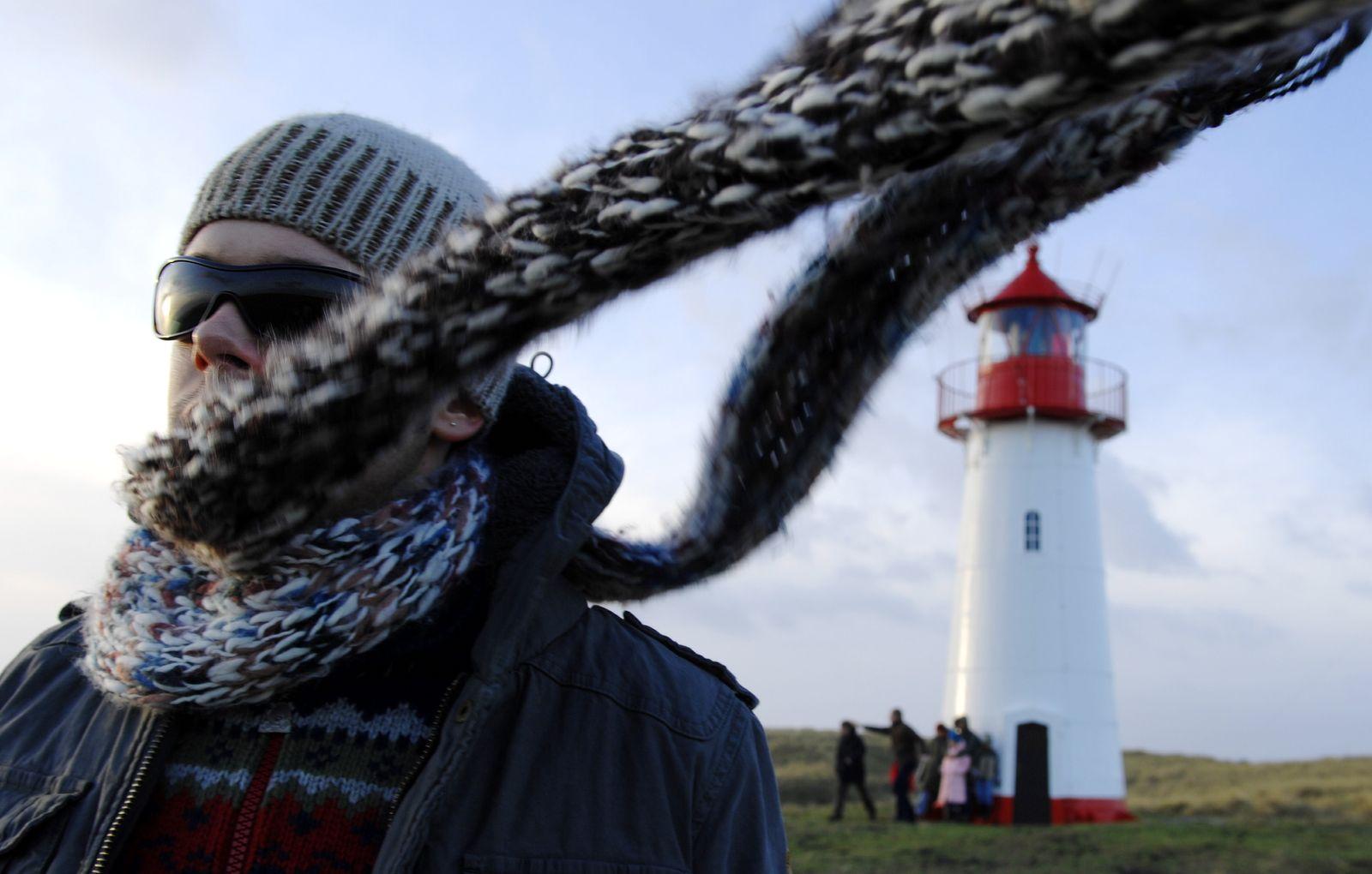 NICHT VERWENDEN Schal Leuchtturm Sylt gefühlte Temperatur 1000 Fragen
