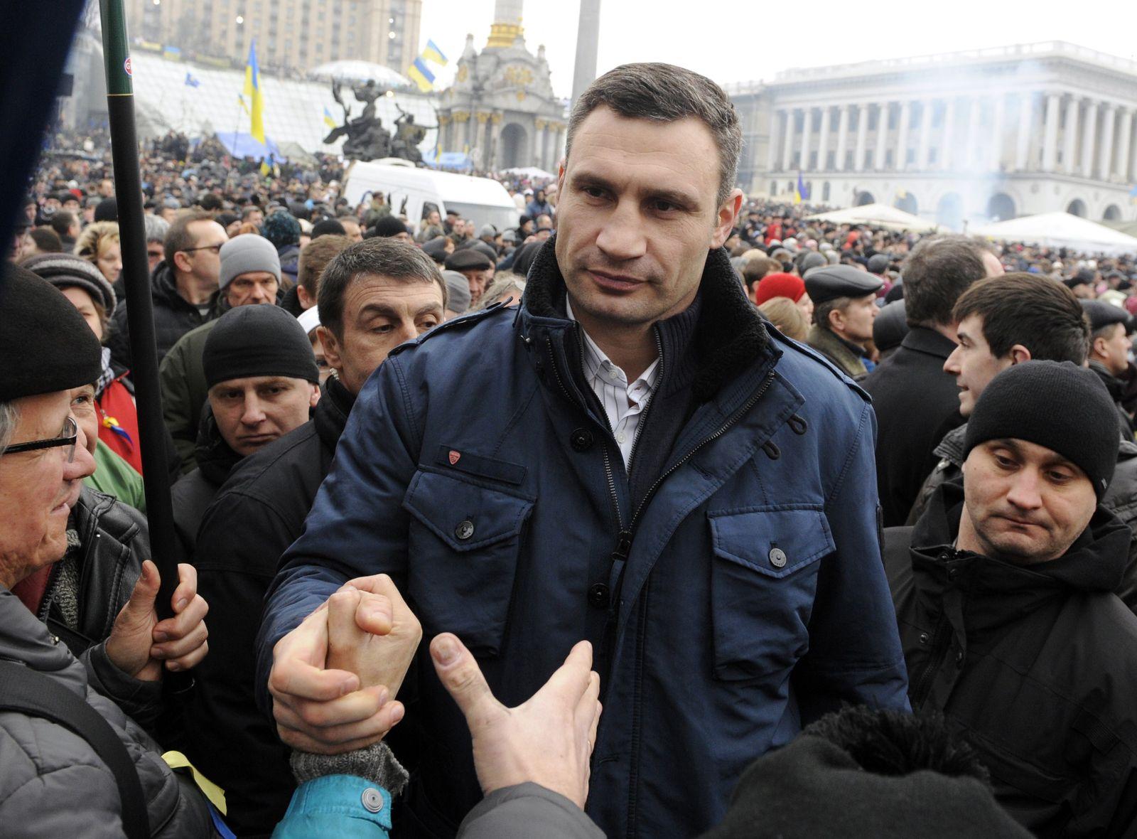 Vitali Klitschko / Proteste in Kiew