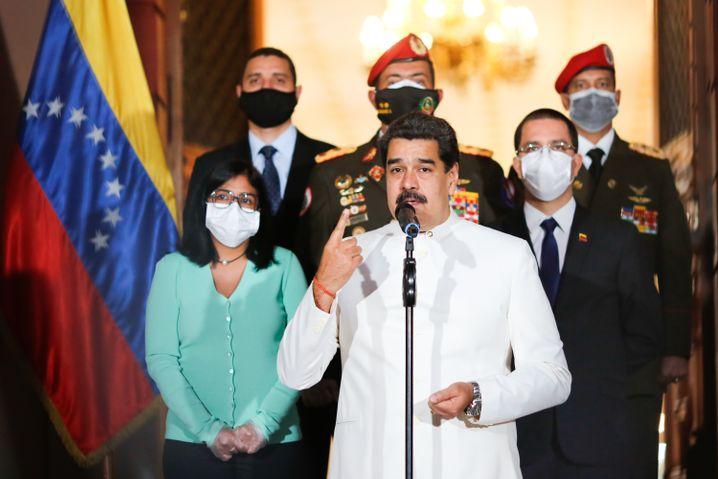 Show kann er: Nicolás Maduro, der Machthaber von Venezuela