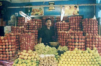 Ein Marktstand in Mysore