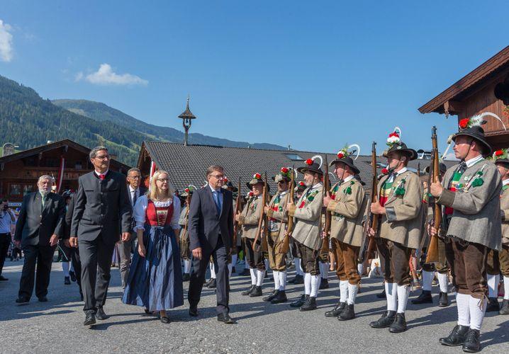Kompatscher (li.) in Alpbach (Österreich)