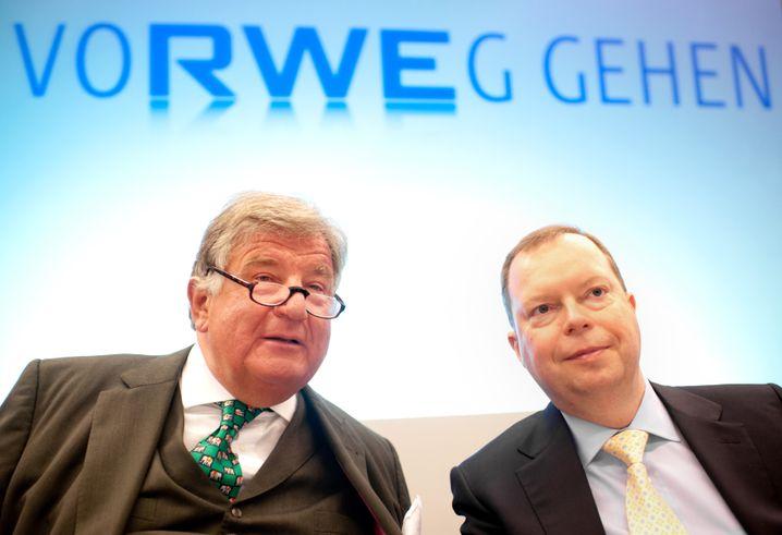 Manager Terium (rechts), Vorgänger Großmann: Schweres Erbe