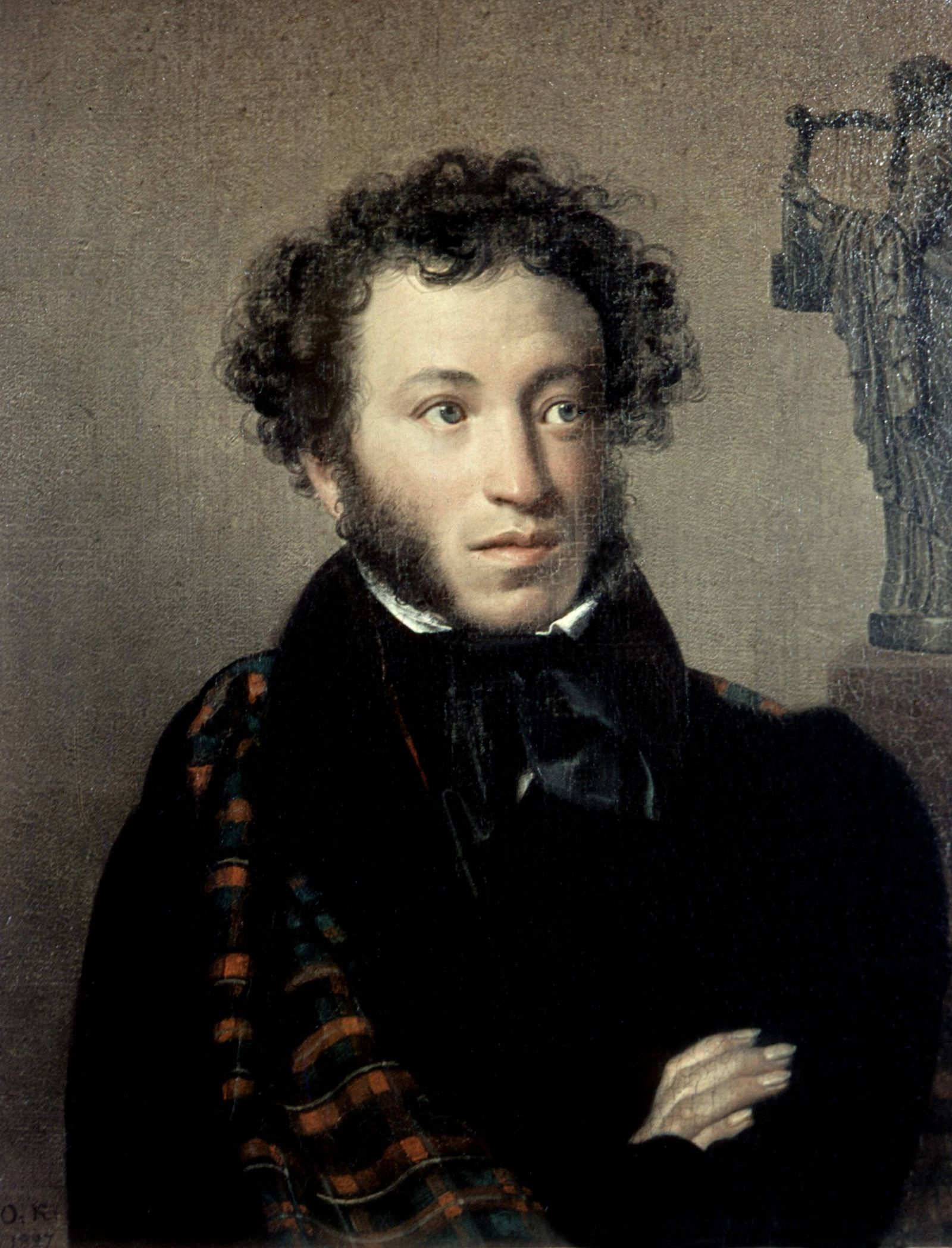 A Kippenski Portrait of Alexander Pushkin A Kippenski 1782 1836 Portrait of Alexander Pushkin 1