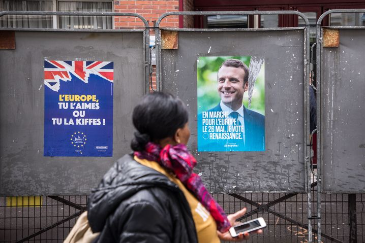 Wahlplakate in Paris