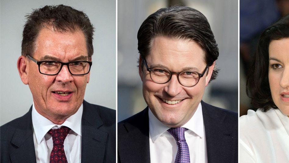 Zwei von diesen drei Menschen schickt die CSU als Bundesminister nach Berlin
