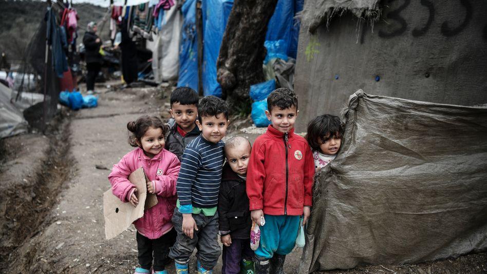 Flüchtlingslager Moria (Foto vom 5. März): In der für 3000 Personen ausgelegten Anlage leben derzeit rund 17.000 Menschen