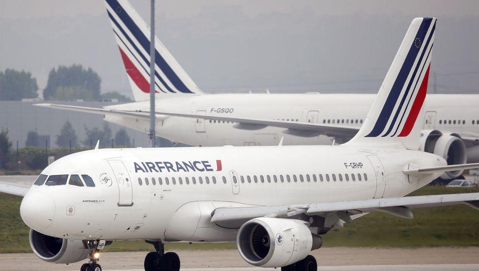 Air-France-Jet in Paris