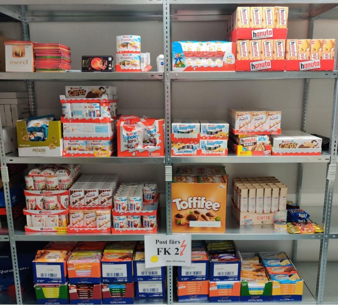 Schokolade im Wert von ca. 2200 Euro gestohlen