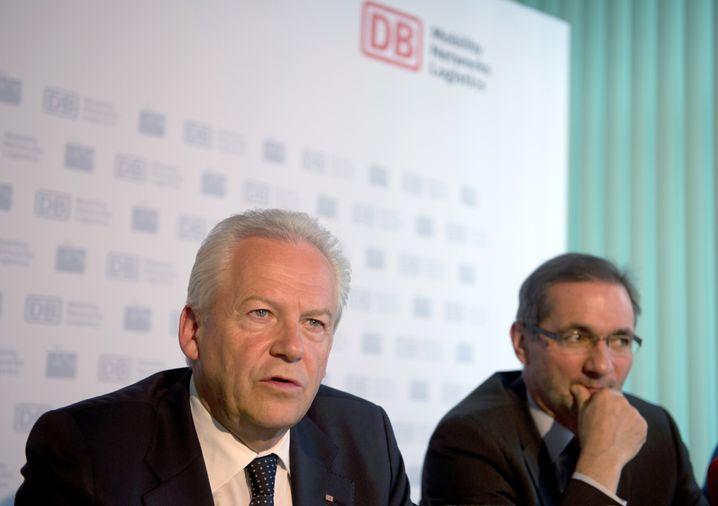 """Bahnchef Grube, SPD-Politiker Platzeck: Nur ein """"PR-Gag""""?"""
