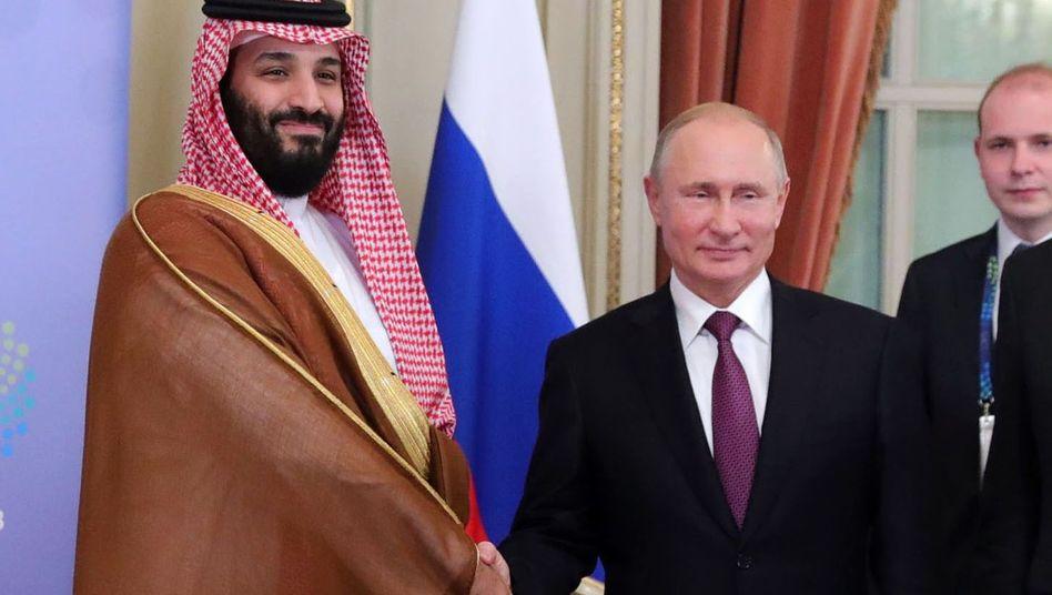 Mohammed bin Salman (l.), Wladimir Putin
