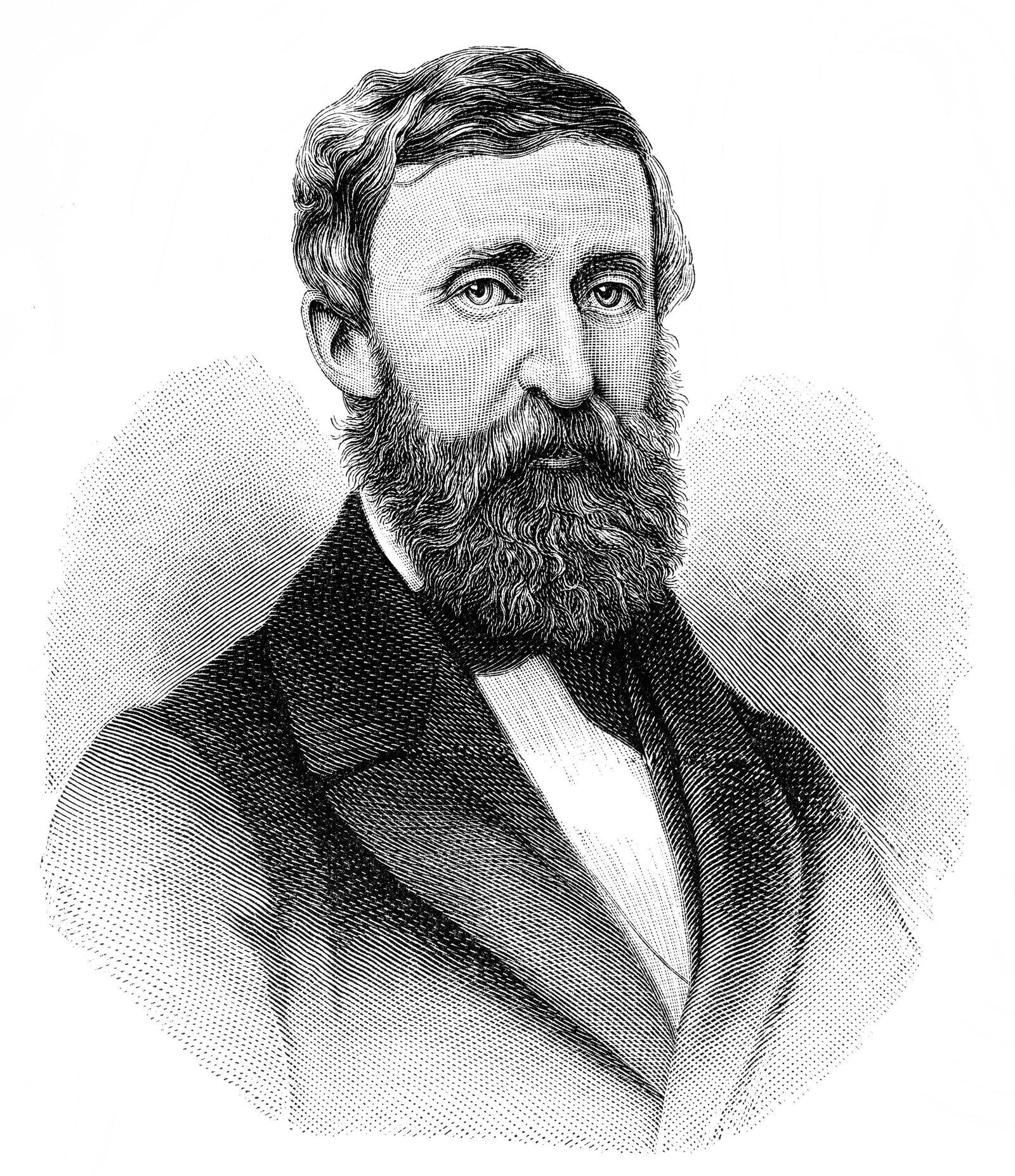 EINMALIGE VERWENDUNG Henry David Thoreau/ Portrait