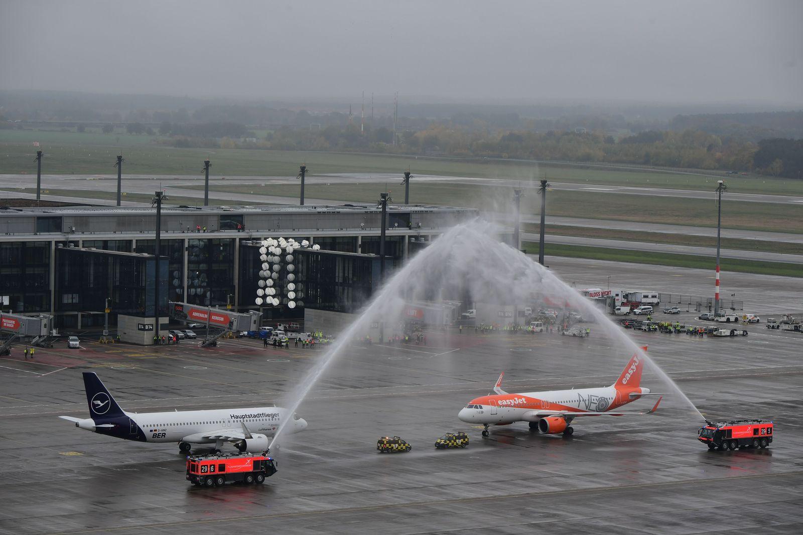 Opening of BER airport, Schoenefeld, Germany - 31 Oct 2020