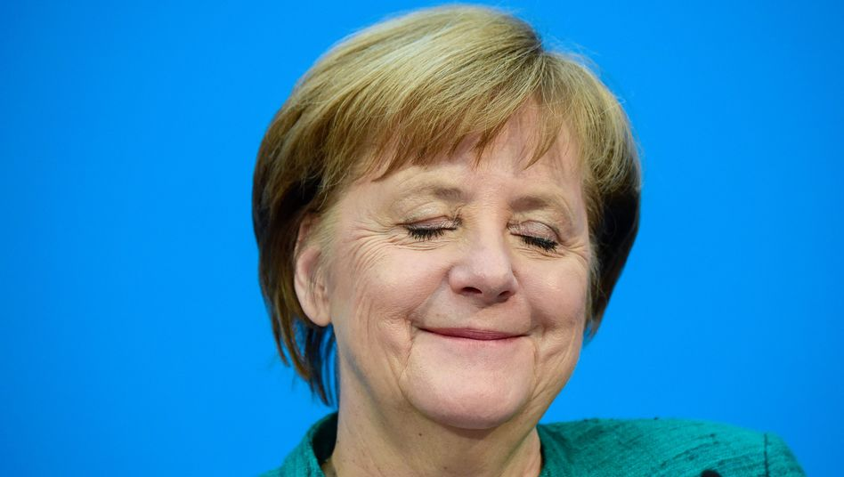 Angela Merkel freut sich über erfolgreichen Austausch mit der AfD