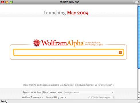 """Wolfram Alpha Startseite: """"Ein neues Paradigma für den Gebrauch von Computern und den des Webs""""?"""