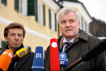 """CSU-Fraktionschef Schmid, Ministerpräsident Seehofer: """"Frisch, lebendig und filzfrei"""""""