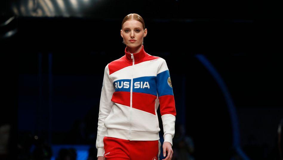»Russia« – in Moskau noch erlaubt, bei den Sommerspielen in Tokio ist dieser Schriftzug aber verboten