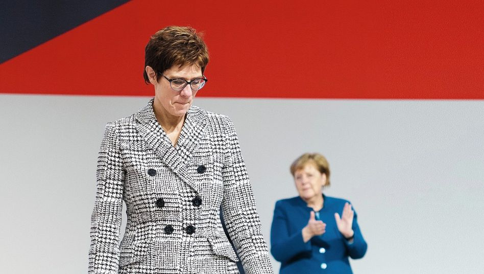 The outgoing leader of the Christian Democratic Union, Annegret Kramp-Karrenbauer.