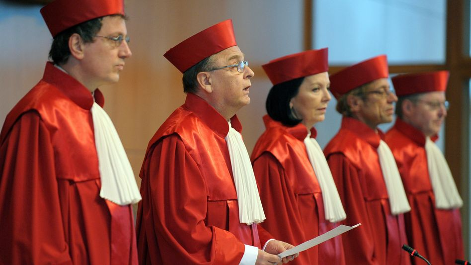 Justices inside Germany's Federal Constitutional Court: The Karlsruhe institution said it would not issue a temporary injunction against the €750 billion rescue package for the euro.