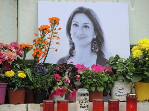 Denkmal für Daphne Caruana Galizia vor dem maltesischen Justizpalast: Nationales Trauma